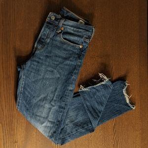 Levi Wedgie Fit White Oak Straight Leg Jeans